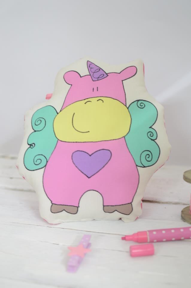Unicorno Buonanotte rosa