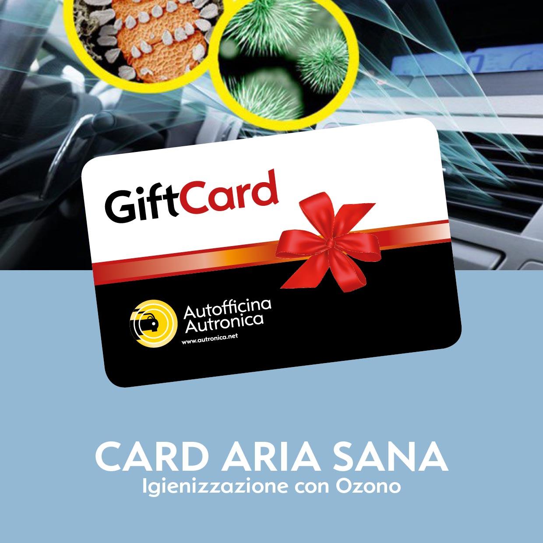 CARD ARIA SANA: Igienizzazione con Ozono