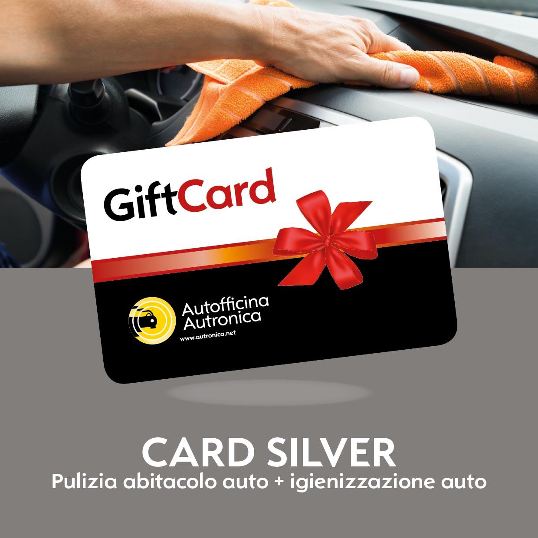 CARD SILVER Pulizia + igienizzazione auto