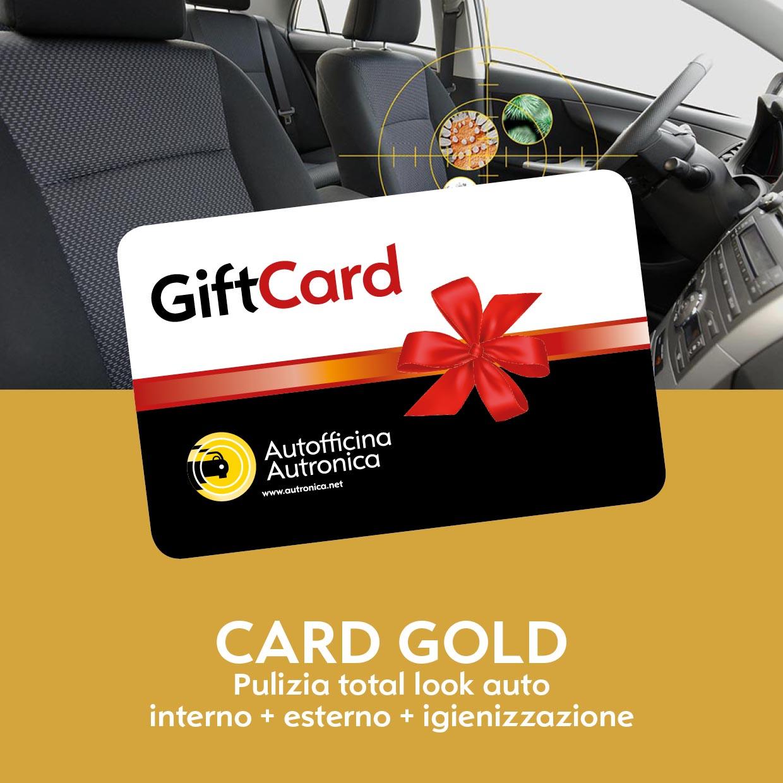 CARD GOLD total look + igienizzazione